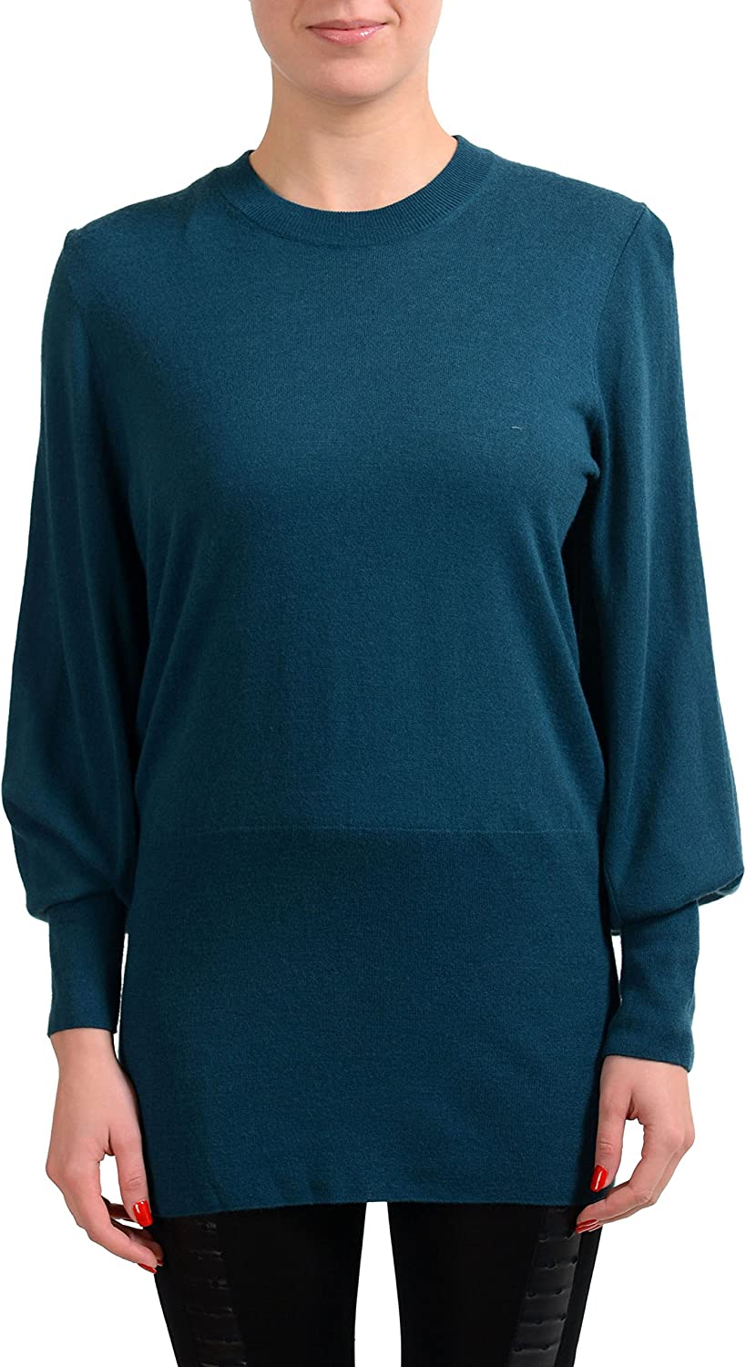 Maison Margiela 1 Wool Pine Green Women's Crewneck Sweater US S IT 40