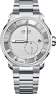 Watch for Watch,Mens Automatic Watches LOBINNI Man Luxury 50m Waterproof Business self Wind Mechanical Wristwatch Tungsten...