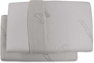 Baldiflex - Set de 2 Almohadas de Espuma con Memoria con Fibra de Plata Silver Safe - Altura de 11 cm