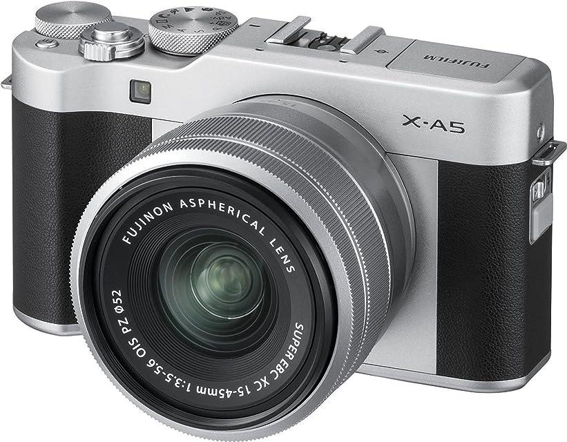 Fujifilm X-A5 kit cámara con objetivo intercambiable XC 15-45 mm /3.5-5.6 ois pz color plata.