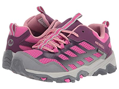 Merrell Kids Moab FST Low Waterproof (Little Kid/Big Kid) (Purple/Grey/Pink) Girl