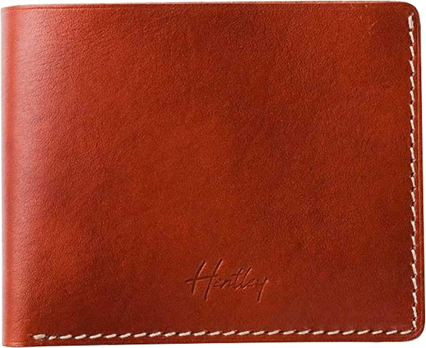Slim Leather Wallet Manhattan Hentley - Whisky
