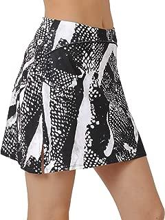 Cityoung Womens Mid Length Athletic Golf Skort Plus Size Pocket Tennis Skirt Shorts Underneath