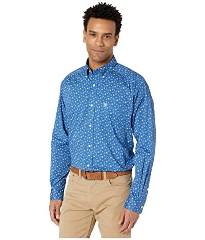 Ariat Gates Stretch Print Shirt (Blue Planet) Men