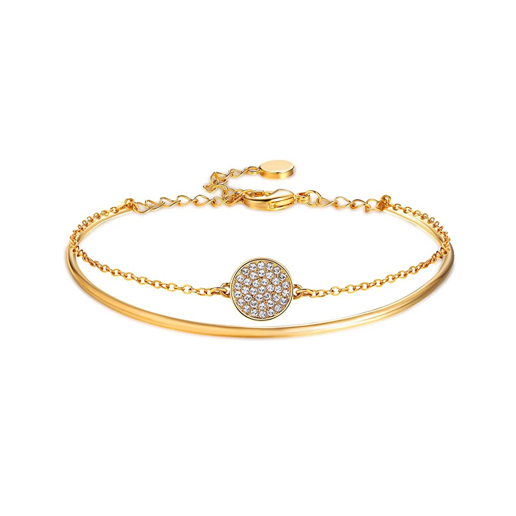 My Jewellery Story Ginger Bangle with Swarovski Crystals Gold Plated