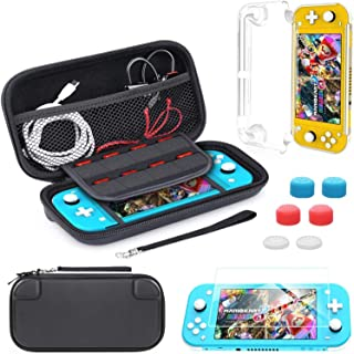 Carrying Case Compatible with Nintendo Switch Lite,Portable Travel Protective Hard Case with 8 Games Cartridges Compatible...