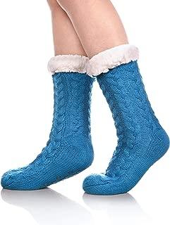 Women's Winter Super Soft Warm Cozy Fuzzy Fleece-lined Christmas Gift With Grippers Slipper Socks