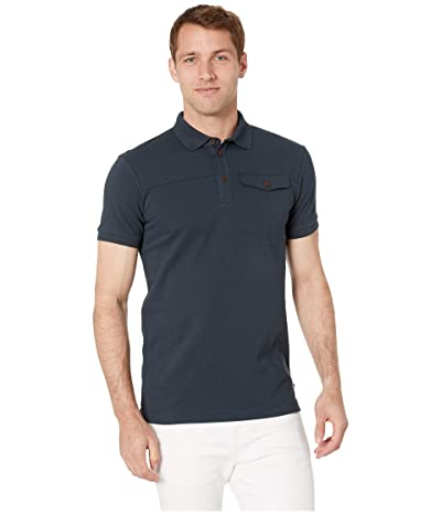Fjallraven Greenland Polo Shirt (Dark Navy) Men