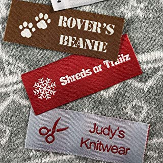 Label Weavers Essential Woven Sew-on Tags for Sewing, Knitting, Crafts and Small Business (5 Samples)