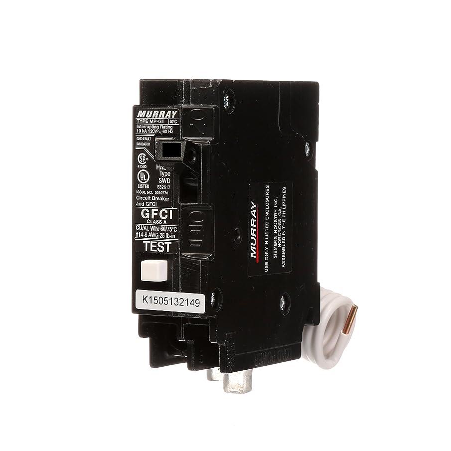 Murray MP125GFA 25 Amp Single Pole GFCI Circuit Breaker with Self Test & Lockout Feature