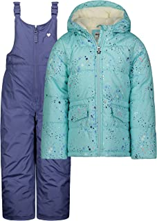 OshKosh B'Gosh Girls Printed Heavey Weight Winter Coat and Snow Pants