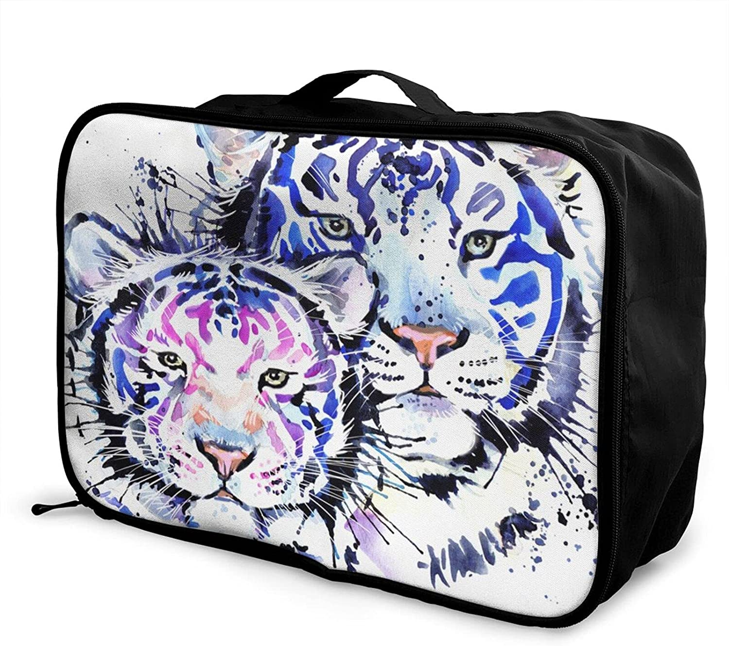 Foldable Travel Bag Tote White Fashionable Discount is also underway Duff Colorful Carry-On Tiger