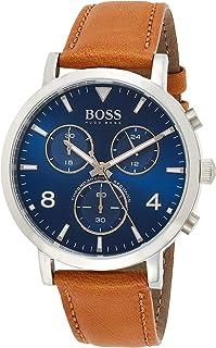 Hugo BOSS Reloj Cronógrafo para Hombre de Cuarzo con Correa en Cuero 1513689