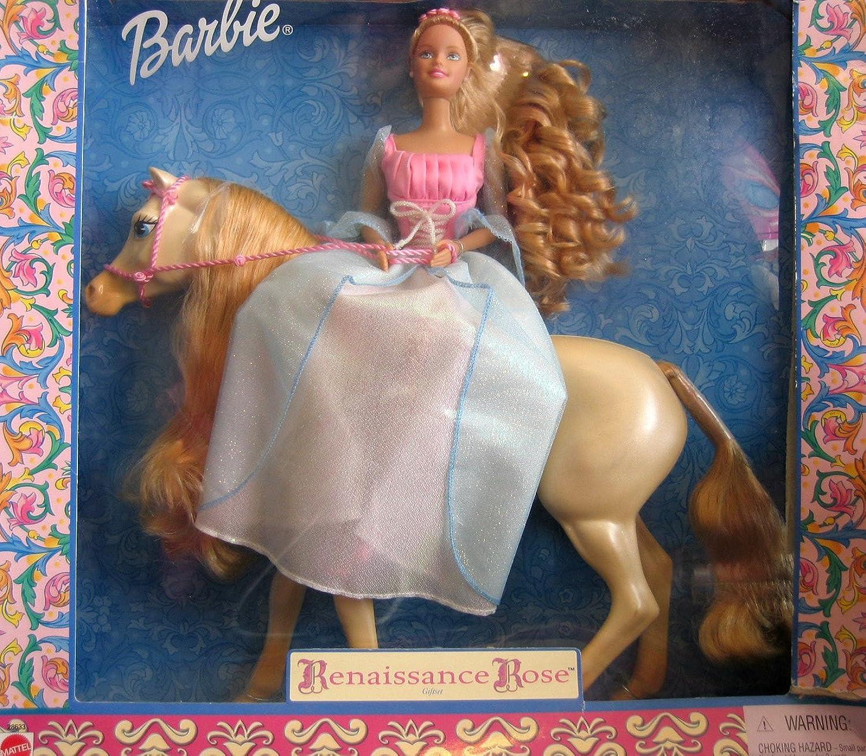 Barbie Renaissance pink Giftset  Barbie Doll & Horse (2000)
