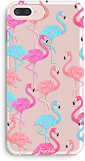 iPhone 7 Plus Case,iPhone 8 Plus Case,Women Aloha Summer Pink Fashion Flamingos Colorful Cute Tropical Pink Animal Bird Spring Hawaii Funny Case for Girls Clear Soft Case for iPhone 7 plus/8 Plus