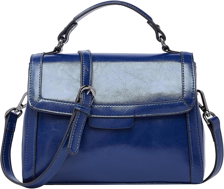 BOYATU Handtaschen aus Leder für Damen Umhängetasche Vintage Damen Henkeltasche B07FT9VP7R  Ausgewählte Materialien