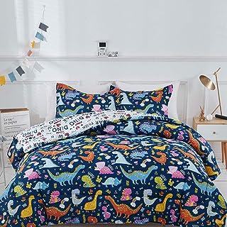 Joyreap 3pcs Comforter Set for Kids Boys, Cute Dinosaur...