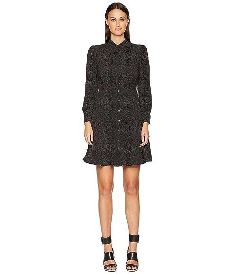 Rebecca Taylor Long Sleeve Sprinkle Dot Dress