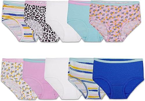 Fruit of the Loom Girls' Cotton Brief Underwear