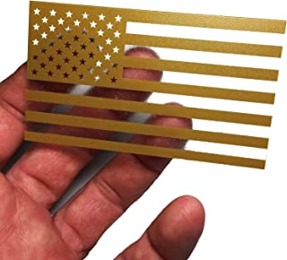 Forward Coyote Brown Thick Transparent Forward American Flag Durable USA Polycarbonate Decal 2
