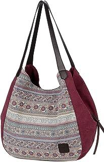 ArcEnCiel Women's Cotton Canvas Handbag Shoulder Bags Totes Purses