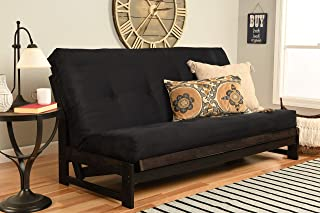 Kodiak Furniture Aspen Futon Set with Reclaim Mocha Finish, Suede Black