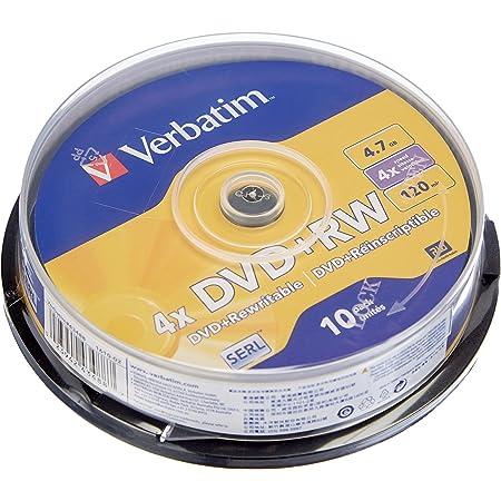 Verbatim DVD+RW 4.7GB - DVD+RW Matt Silver regrabables (10 Unidades)