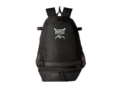 Nike Vapor Select Baseball Backpack (Black/Black/White) Backpack Bags