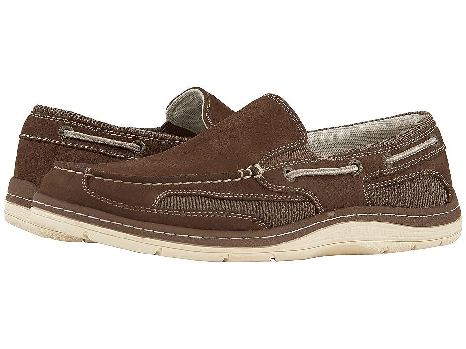 Dockers Danby Boat Shoe (Dark Taupe Tumbled Nubuck) Men