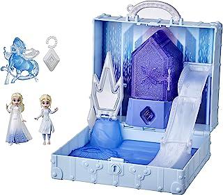 Disney's Frozen 2 Pop Adventures Ahtohallan Adventures Pop-Up Playset with Handle, Including 2 Elsa Dolls, Toy for Kids