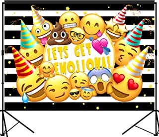 musykrafties Emoji Hilarious Party Backdrop Large Banner Decoration Dessert Table Background Photobooth Prop 7x5 feet