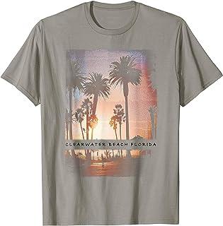 Vintage Clearwater Florida Shirt Beach Sunset Palm Tree Fun
