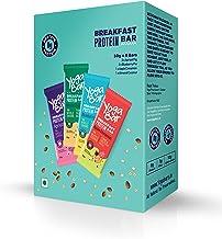 Yogabar Breakfast Protein Variety (Almond Coconut, Apricot & Fig, Blueberry, Apple Cinnamon Bars - 300gm, 6 x 50 g (Box of 6 Bars)