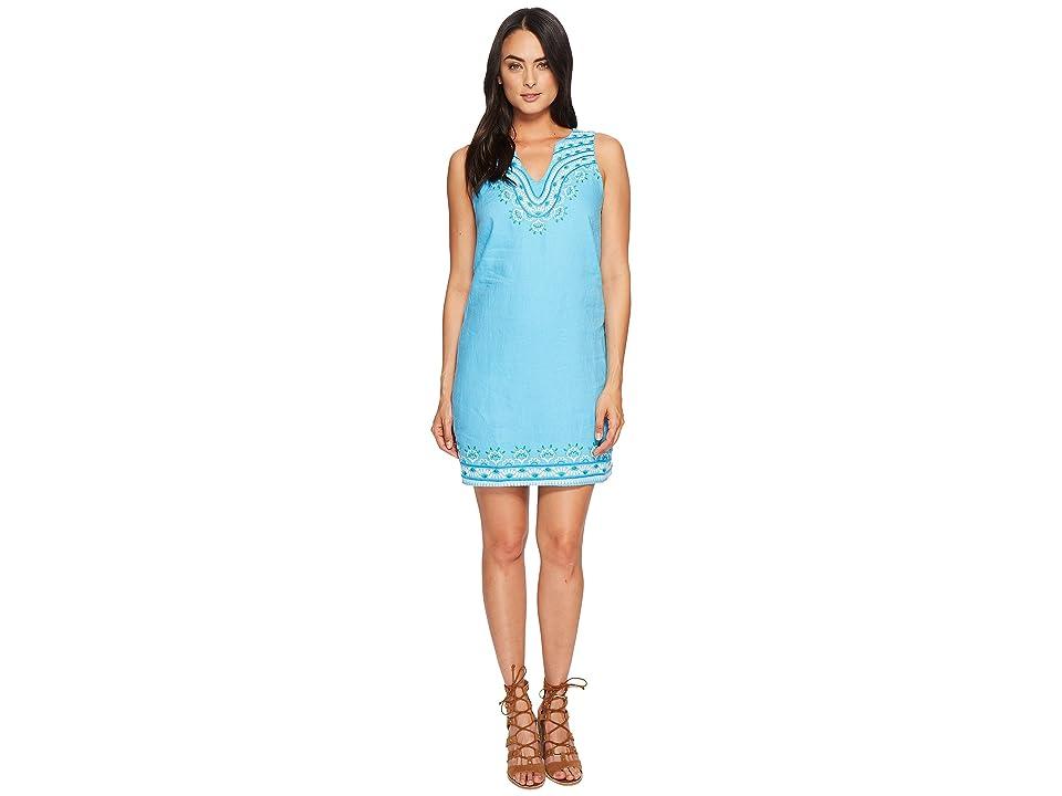 Hatley Portia Dress (Aqua Sanibel Shells) Women