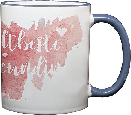 Preisvergleich für Ma2ca® Weltbeste Freundin Kaffeetasse Becher Tasse Tasse Becher-rand_cambridgeblau