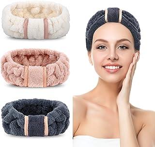 3 Pack Spa Headbands Microfiber Headbands SkinCare Headbands Face Wash Headband Face Washing Headband Facial Headband Make...