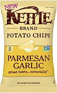 Kettle Brand Potato Chips, Parmesan Garlic Kettle Chips, 8.5 Ounce Bag