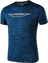 YOSICIL Herren Sportshirt Outdoor Laufen Kurzarmshirt Laufshirt Atmungsaktiv Sports Shirt Trainingsshirt fürMänner in Farben Blau Schwarzblau Dunkelgrau M-4XL