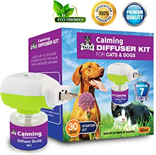 Talis Calming Pheromone Diffuser Refill 48Ml Anxiety Calming Diffuser Mating Anxiety Remedy for Dogs and Cats New Formula ...