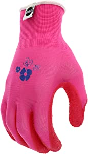 West Chester Miracle-Gro MG37168 Stretch Knit Gardening Gloves with Latex Coated Palm: Women's Small/Medium, 1 Pair
