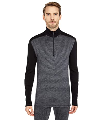 Smartwool Merino 250 Base Layer Pattern 1/4 Zip (Medium Gray Tick Stitch) Men