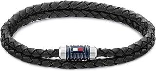 Tommy Hilfiger Men's Jewelry Double Wrap Leather Bracelet