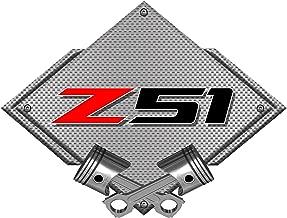 ZIC Motorsports Corvette Z51 Silver Diamond - Heavy Duty Metal Garage Wall Sign - 25