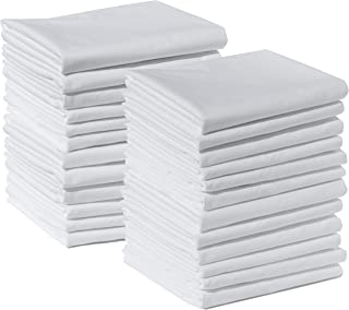 Polycotton Bulk Pack of 24 Standard Size Pillowcases, White 200 Thread Count, 21