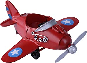 Vintage / Retro Iron Propeller Airplane Plane Aircraft Handicraft Models -The Best Choice for Photo Props/christmas Gift/home Decor/ornament/souvenir Study Room Desktop Decoration Cake Topper (Red)