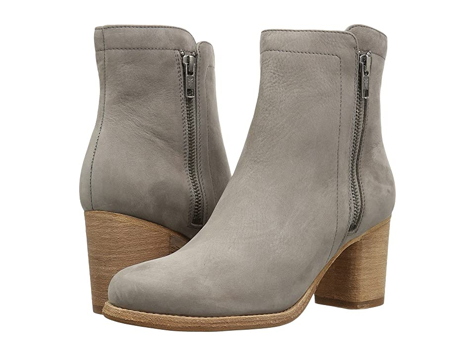 Frye Addie Double Zip (Grey Soft Italian Nubuck) Women