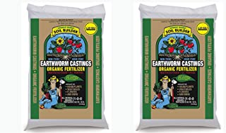 Unco Industries Wiggle Worm Organic Earthworm Castings Fertilizer, UfVFKl 2 Pack (30 Pounds)