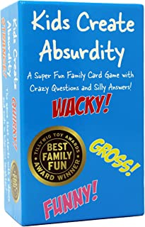 Kids Create Absurdity: Laugh Until You Cry! A Fill in The Blank Family-Card-Game for Kids with Funny Questions and Hilarious Answers Fun for Kids-Adults-Boys-Girls Easter Gift for Family Game Night