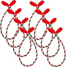 Cooraby Decorative Garland Ties Garland Flexible Ties for Holiday Decorations Christmas Craft Gift Wrapping (Red, Green, 8)