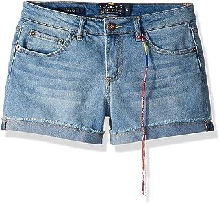 سروال قصير للفتيات من Lucky Brand مكون من 5 جيوب بأطراف أكمام مطاطية